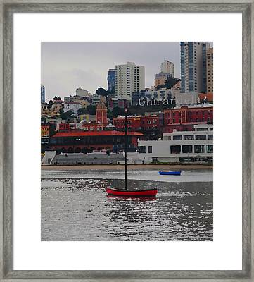 Skyline At The Bay Framed Print by Wally Boggus
