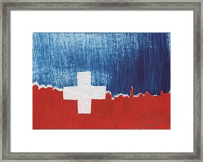 Skyline St. Moritz 1. August 2008 Framed Print by De Fago
