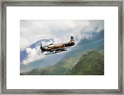 Skyraider Framed Print by Peter Chilelli