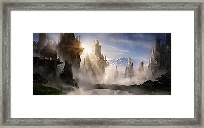 Skyrim Fantasy Ruins Framed Print by Alex Ruiz