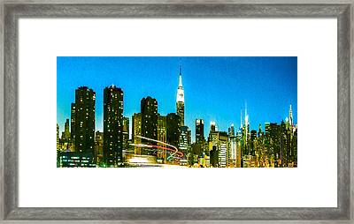 Skyscrapers Framed Print by Lanjee Chee