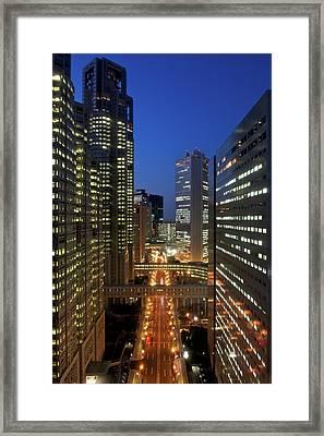 Skyscrapers Of Shinjuku, Tokyo Framed Print by Vladimir Zakharov