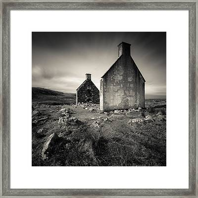 Slaggan Ruins Framed Print by Dave Bowman