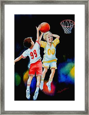 Slam Dunk Framed Print by Hanne Lore Koehler