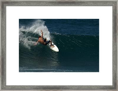 Slash Framed Print by Brad Scott