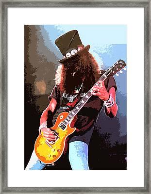Slash Framed Print by Dandy Peacewell
