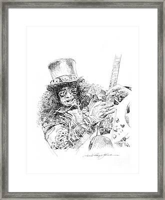 Slash Framed Print by David Lloyd Glover