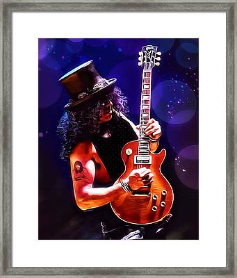Slash Painting Framed Print by Scott Wallace