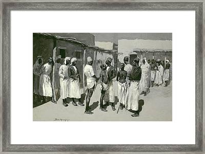 Slave Market, 1893 Framed Print by Frederic Remington