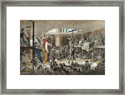 Slave Ship Below Deck Framed Print by Johann Moritz Rugendas