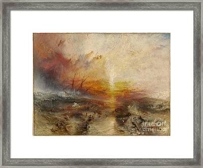 Slave Ship Framed Print by MotionAge Designs