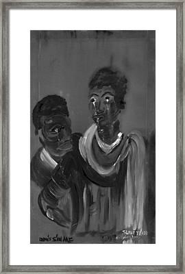 Slave Trade - Dont Sin Me Framed Print by Robert Lee Hicks