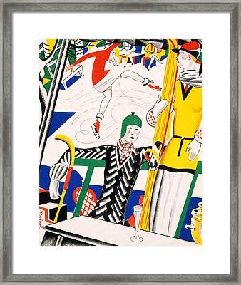 Sledging Framed Print by Charles Martin