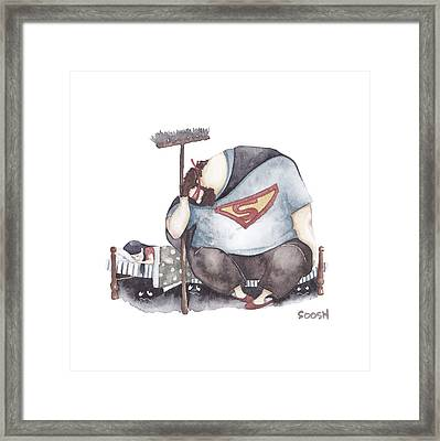 Sleep My Little One Framed Print by Soosh