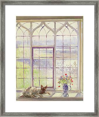 Sleeper With Anemones Framed Print by Timothy Easton