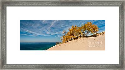 Sleeping Bear Overlook Framed Print by Larry Carr