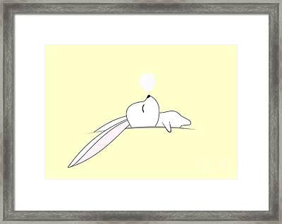 Sleeping Bunny Framed Print by Kourai