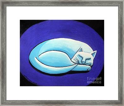 Sleeping Cat Framed Print by Genevieve Esson