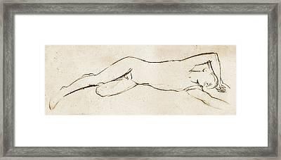 Sleeping Framed Print by Nato  Gomes