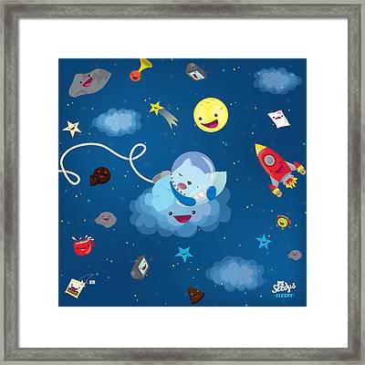 Sleepy In Space Framed Print by Seedys