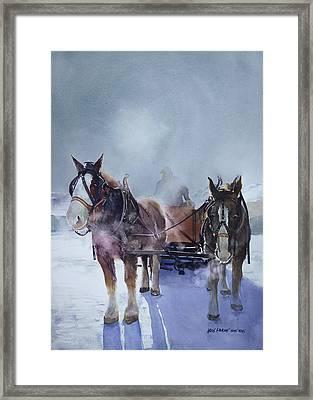 Sleigh Ride Framed Print by Kris Parins
