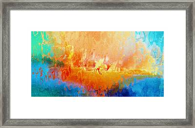 Slice Of Heaven Horizontal - Abstract Art Framed Print by Jaison Cianelli