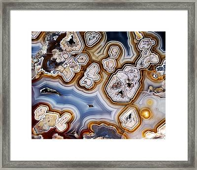 Slice Of Honeycomb Agate Framed Print by Dirk Wiersma