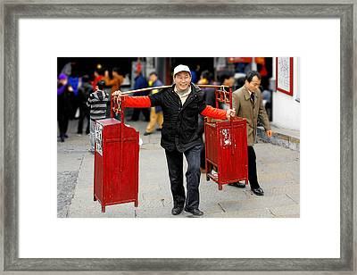 Slices Of Chinese Life Framed Print by Christine Till