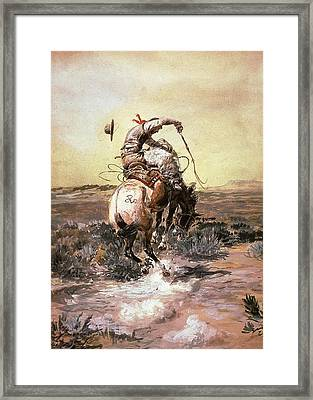 Slick Rider Framed Print by Charles Russell