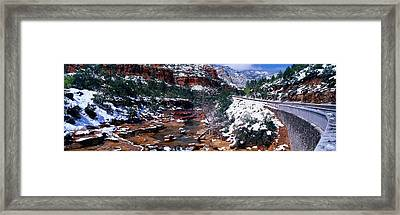 Slide Rock Creek, Sedona, Arizona Framed Print by Panoramic Images