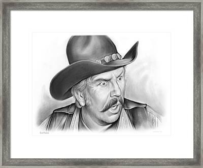 Slim Pickens Framed Print by Greg Joens
