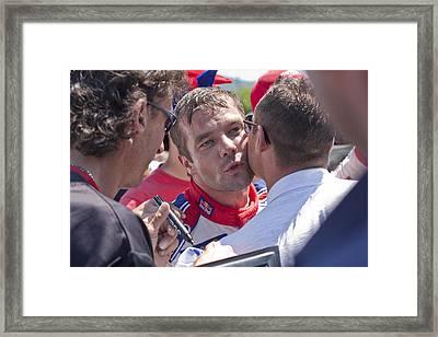S.loeb 2 Minutes After Winning Wrc Rally Bulgaria 2010 Framed Print by Boyan Dimitrov
