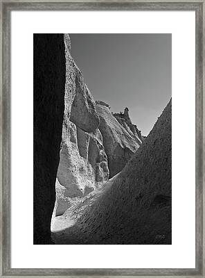 Slot Canyon Bw I Framed Print by David Gordon
