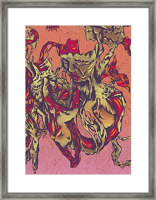 Sloth And Lust Framed Print by Adrian Dela Cerna