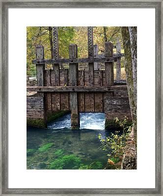 Sluce Gate Framed Print by Marty Koch