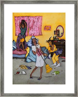 Slumber Party Framed Print by Lynn Darnelle