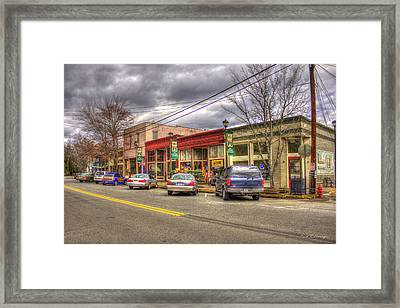 Small But Special Historic Rutledge Georgia Morgan County Framed Print by Reid Callaway