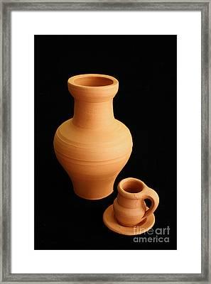 Small Pottery Items Framed Print by Gaspar Avila