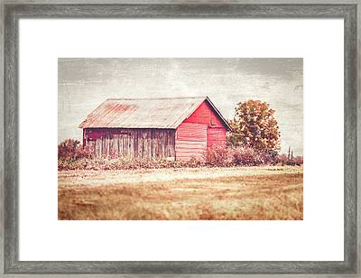 Small Red Barn Framed Print by Andrea Kappler