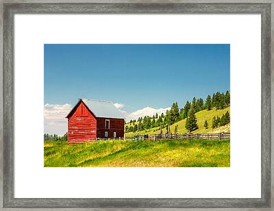 Small Red Shed Framed Print by Todd Klassy