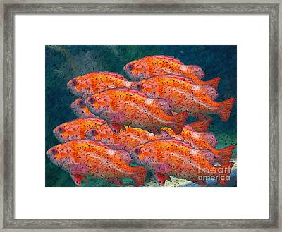 Small School Framed Print by Ron Bissett