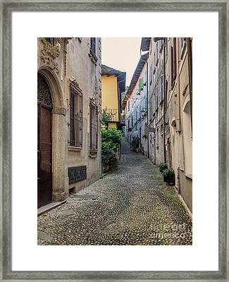 Small Streets In Orta San Giulio, Italy Framed Print by Frank Bach