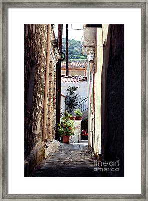 Small Town Cyprus Framed Print by John Rizzuto