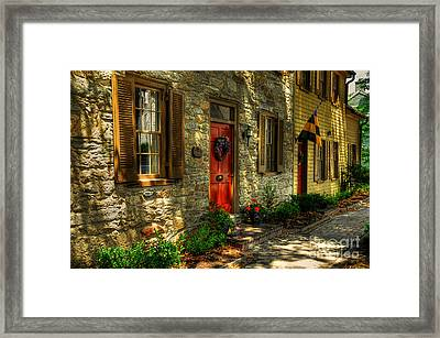 Small Town Usa Framed Print by Lois Bryan