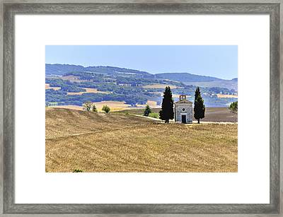 Small Tuscan Chapel Framed Print by Juergen Feuerer