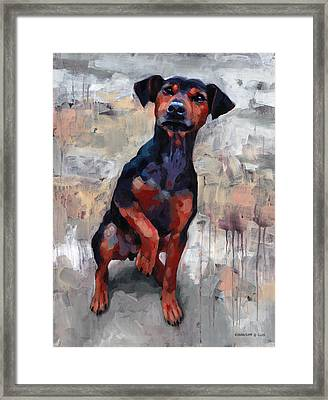 Smart Boy Framed Print by Douglas Simonson