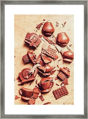 Smashing Chocolate Fondue Party Framed Print by Jorgo Photography - Wall Art Gallery