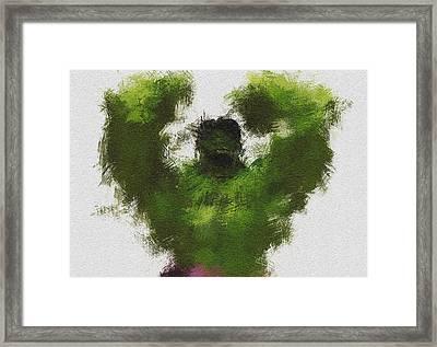Smashing Green Framed Print by Miranda Sether