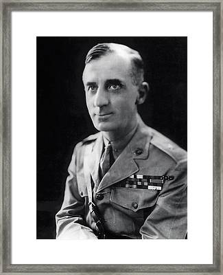 Smedley Butler - U. S. Marines General - 2 Time Medal Of Honor Recipient Framed Print by Daniel Hagerman