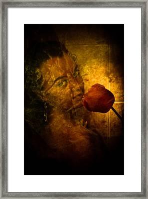 Smelling The Flowers Framed Print by Scott Sawyer